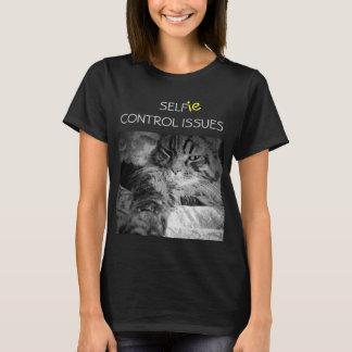 Camiseta O controle de auto de Selfie emite o gato