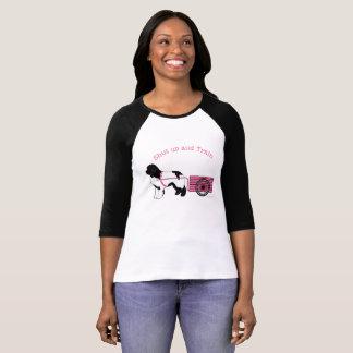 Camiseta O cor-de-rosa o mais bonito fechado acima e