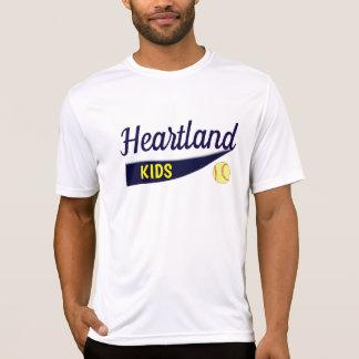 Camiseta O coração caçoa o softball 3