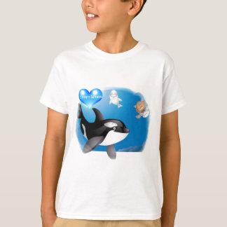 Camiseta O coração da orca (baleia de assassino) I projeta