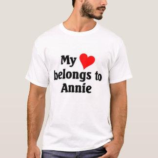 Camiseta O coração pertence a Annie