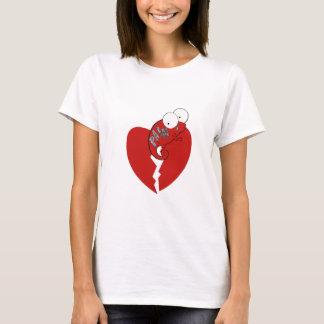 Camiseta O coração quebrado do camaleão/dor