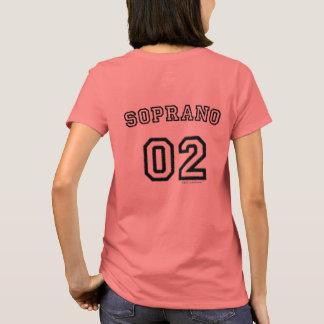 Camiseta O coro cultiva o t-shirt das mulheres do soprano