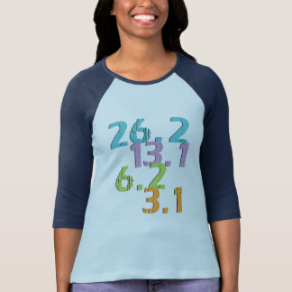 Camiseta o corredor afasta 3,1, 6,2, 13,1 e 26,2
