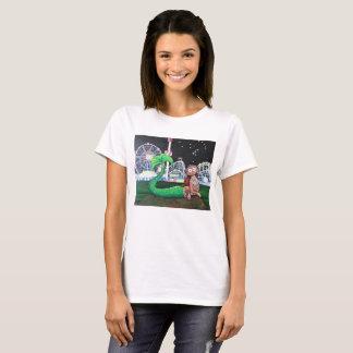 Camiseta O corte das senhoras da sereia de Coney Island