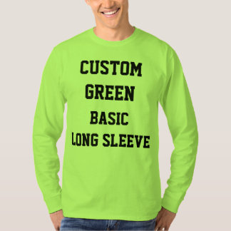 Camiseta O costume personalizou o T-SHIRT LONGO da LUVA do