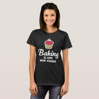 Camiseta O cozimento é t-shirt visível feito amor do