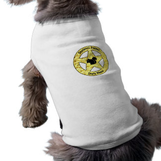 Camiseta O crachá da patrulha do esquilo personaliza