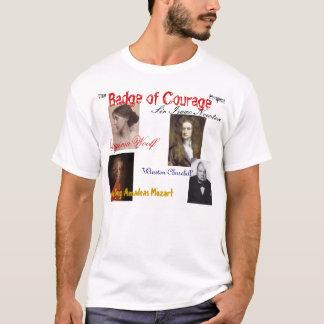 Camiseta o crachá do projeto da coragem