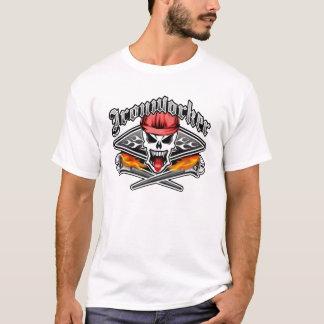 Camiseta O crânio 2,1 e ardor do Ironworker Spud chaves