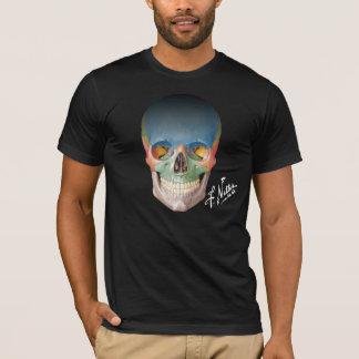Camiseta O crânio anterior do Netter em um Tshirt preto