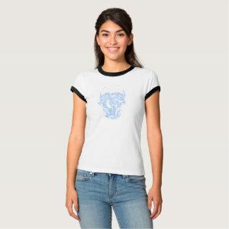Camiseta O crânio azul