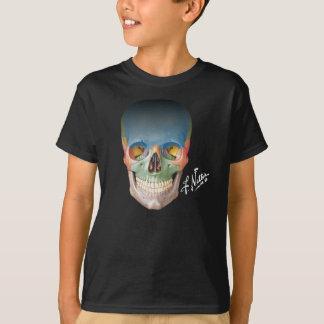 Camiseta O crânio de sorriso do Netter em um T Miúdo-feito
