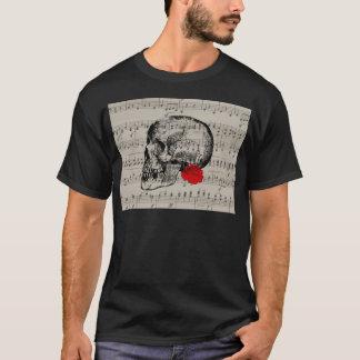 Camiseta O crânio e aumentou