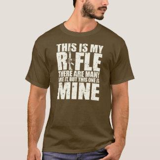 Camiseta O credo do Rifleman - este são meus rifles - creme