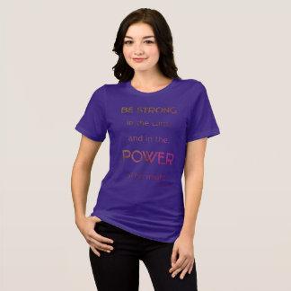 Camiseta O cristão seja forte no senhor