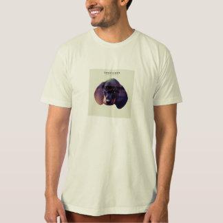 Camiseta O Dachshund grava o t-shirt orgânico do algodão