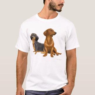 Camiseta O Dachshund persegue o t-shirt