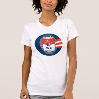 """Camiseta O das mulheres o """"sim nós podemos"""" T-Camisas"""