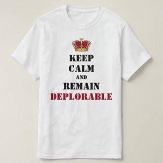 Camiseta O deplorável coroado do trunfo