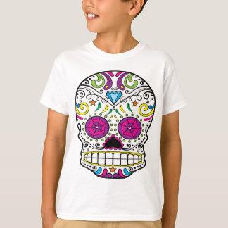 Camiseta O DES Los Muertos do diâmetro do crânio do açúcar