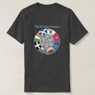 Camiseta O design celta antigo da bandeira de 8 nações