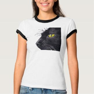 Camiseta O design do gato preto de Bella do bebê das