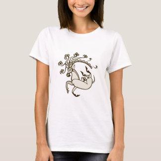 Camiseta O design escuro das mulheres dos cervos de Pazyryk