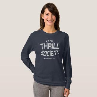 Camiseta O design espremido logotipo da sociedade da emoção