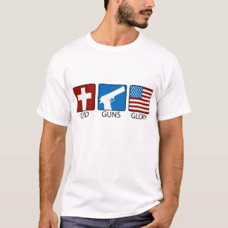 Camiseta O deus atira na glória