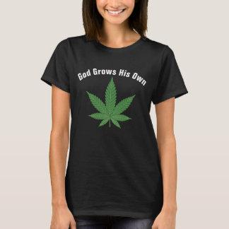 Camiseta O deus cresce seus próprios personalizado