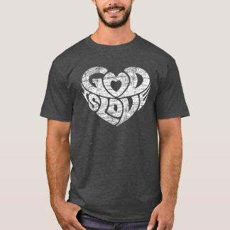 Camiseta O deus é cristão do Grunge da escritura do verso