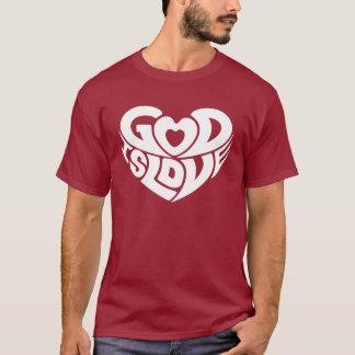 Camiseta O deus é cristão legal da escritura do verso da