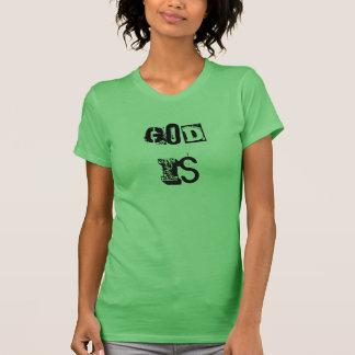 Camiseta O deus é - pia batismal da esteira da lavanderia