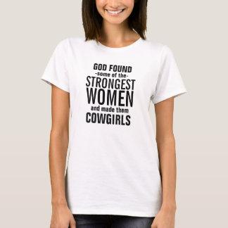 Camiseta O deus fez algum das vaqueiras as mais fortes