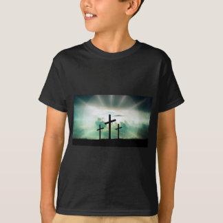 Camiseta O deus transversal Jesus da fé do cristo nubla-se
