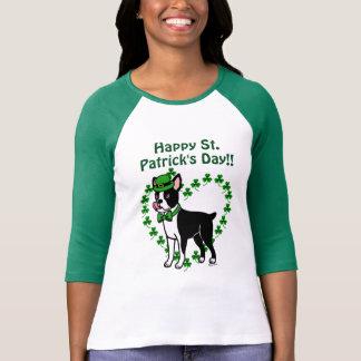 Camiseta O dia Boston Terrier 3 de St Patrick