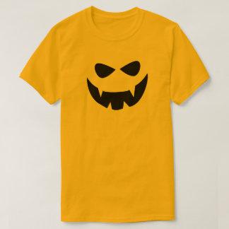 Camiseta O Dia das Bruxas assustador preto amarelo enfrenta