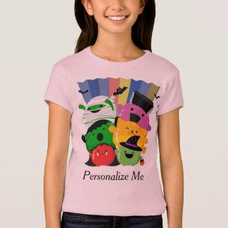 Camiseta O Dia das Bruxas customizável - amigos bonitos de