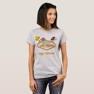 Camiseta O Dia das Bruxas feliz Las Vegas que voa a bruxa