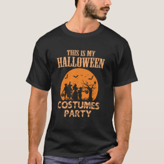 Camiseta O Dia das Bruxas traja o tshirt do partido