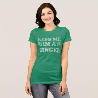 Camiseta O Dia de São Patrício beija-me Im um gengibre