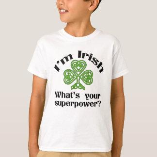 Camiseta O dia de St Patrick engraçado da superpotência
