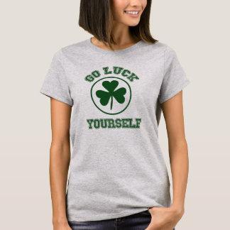 Camiseta O dia de St Patrick vai T da sorte você mesmo