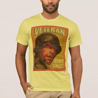 Camiseta O dia de veterano - veterano - nunca esquece