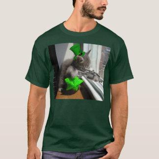 Camiseta O dia do St Patrick do gatinho