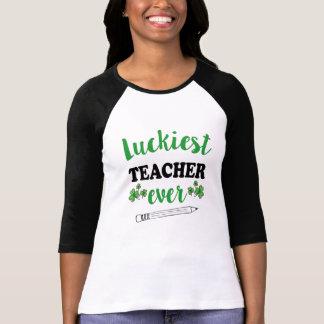 Camiseta O dia do St Patrick do professor das mulheres as