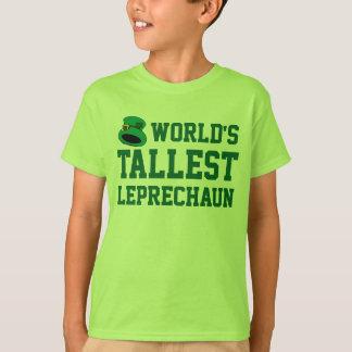 Camiseta O dia do St Patrick engraçado do miúdo o mais alto