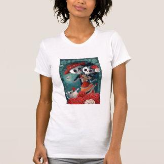 Camiseta O dia dos amantes de esqueleto inoperantes