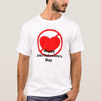 Camiseta O dia dos Anti-Namorados felizes